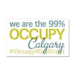 Occupy Calgary Car Magnet 20 x 12