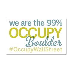 Occupy Boulder Car Magnet 20 x 12