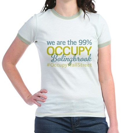 Occupy Bolingbrook Jr. Ringer T-Shirt