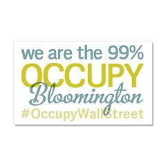 Occupy Bloomington Car Magnet 20 x 12