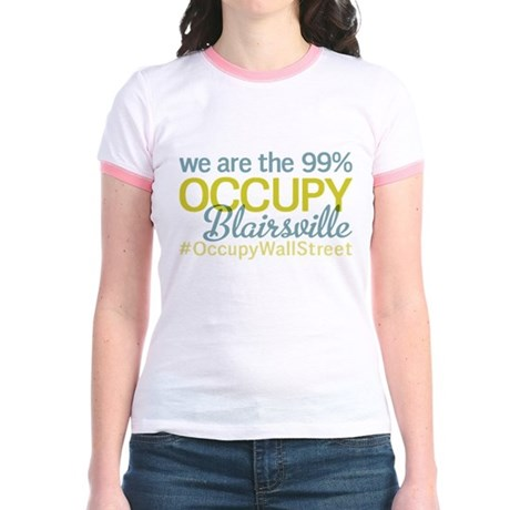 Occupy Blairsville Jr. Ringer T-Shirt