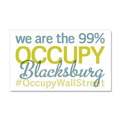 Occupy Blacksburg Car Magnet 20 x 12