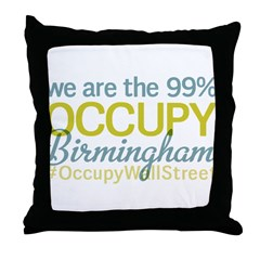 Occupy Birmingham Throw Pillow