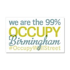 Occupy Birmingham Car Magnet 20 x 12