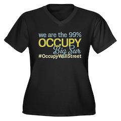 Occupy Big Sur Women's Plus Size V-Neck Dark T-Shi