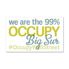 Occupy Big Sur Car Magnet 20 x 12