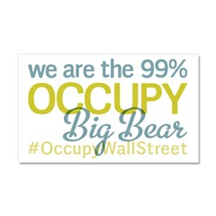 Occupy Big Bear City Car Magnet 20 x 12