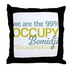 Occupy Bemidji Throw Pillow
