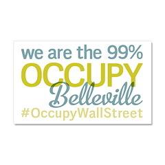 Occupy Belleville Car Magnet 20 x 12