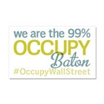 Occupy Baton Rouge Car Magnet 20 x 12