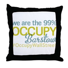 Occupy Barstow Throw Pillow