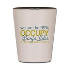 Occupy Banja Luka Shot Glass