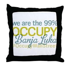 Occupy Banja Luka Throw Pillow