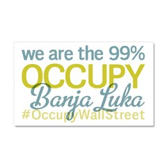 Occupy Banja Luka Car Magnet 20 x 12