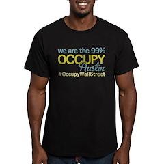 Occupy Austin Men's Fitted T-Shirt (dark)