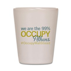 Occupy Athens Shot Glass