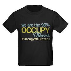 Occupy Athens Kids Dark T-Shirt