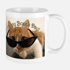Happy Boss's Day - Cool Cat in Sunglasses Mug