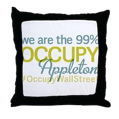 Occupy Appleton Throw Pillow