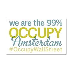 Occupy Amsterdam Car Magnet 20 x 12