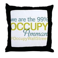 Occupy Amman Throw Pillow