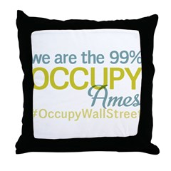 Occupy Ames Throw Pillow