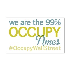 Occupy Ames Car Magnet 20 x 12