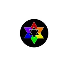 Rainbow Jew #1A & #1B - Mini Button