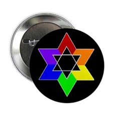 Rainbow Jew #1A & #1B - Button