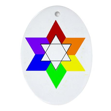 Rainbow Jew #1A & #1B - Oval Ornament