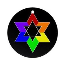 Rainbow Jew #1A & #1B - Ornament (Round)