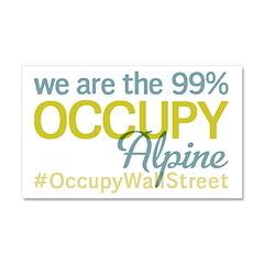Occupy Alpine Car Magnet 20 x 12