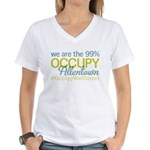 Occupy Allentown Women's V-Neck T-Shirt
