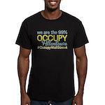 Occupy Allentown Men's Fitted T-Shirt (dark)