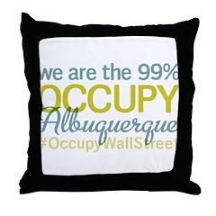 Occupy Albuquerque Throw Pillow