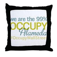 Occupy Alameda Throw Pillow