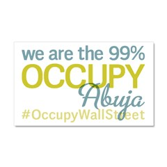 Occupy Abuja Car Magnet 20 x 12