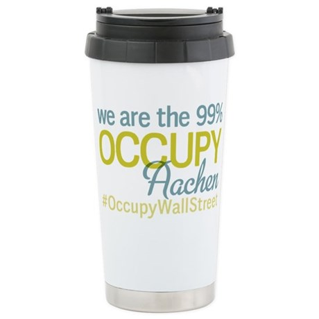 Occupy Aachen Stainless Steel Travel Mug