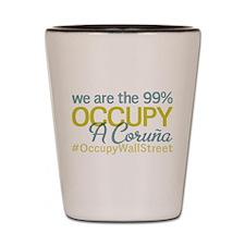 Occupy A Coru?a Shot Glass