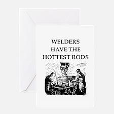 welders joke Greeting Card