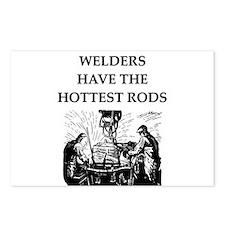 welders joke Postcards (Package of 8)