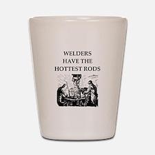 welders joke Shot Glass