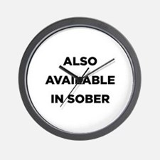 Also Available in Sober Wall Clock