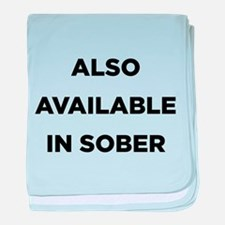 Also Available in Sober baby blanket