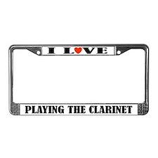 Clarinet Music Gift License Plate Frame