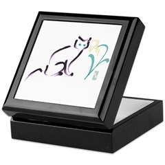 Cat & Flower 1 Keepsake Box
