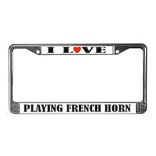 French Horn Gift License Plate Frame