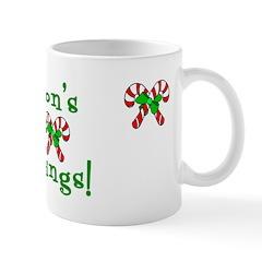 Candy Cane Seasons Greetings Mug