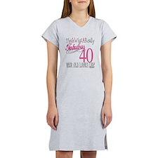 40th Birthday Gifts Women's Nightshirt