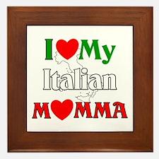 I Love My Italian Momma Framed Tile